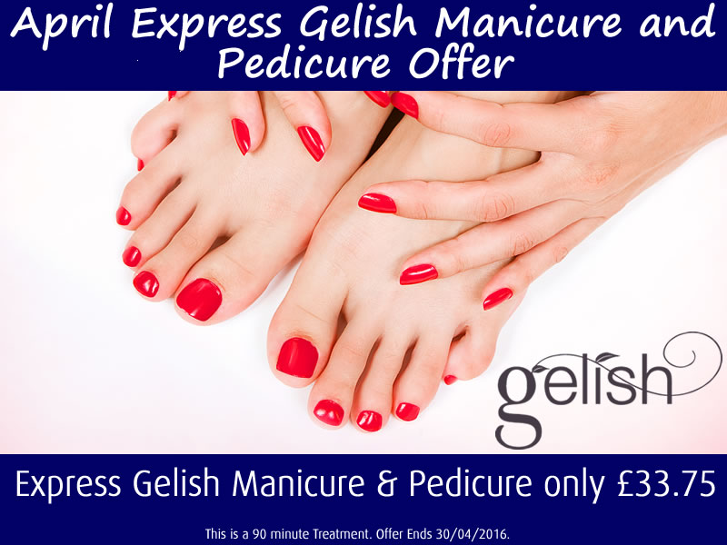 April 2016 Express Gelish Manicure and Pedicure Offer