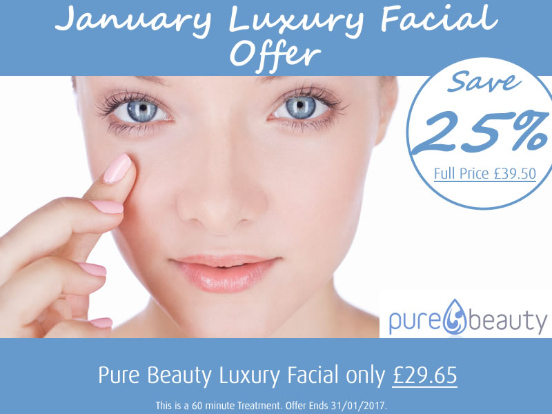 January 2017 Luxury Facial Offer at Pure Beauty Lichfield