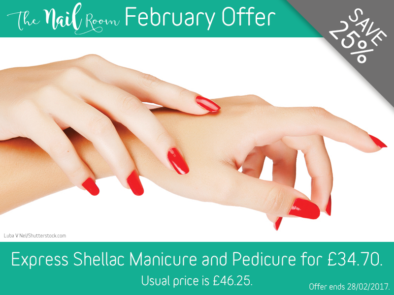 February 2017 Express Shellac Manicure and Pedicure Offer