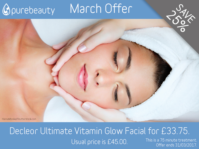 March 2017 Decleor Ultimate Vitamin Glow Facial Offer