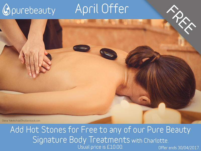 April 2017 Free Hot Stones with Signature Body Treatments