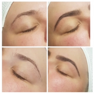 HD Brows Before and After 1 at Pure Beauty Lichfield