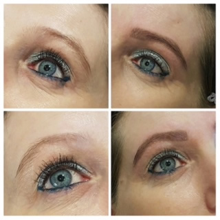HD Brows Before and After 2 at Pure Beauty Lichfield