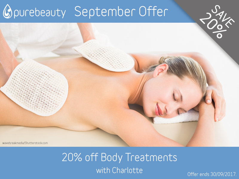 September 2017 Body Treatments Offer