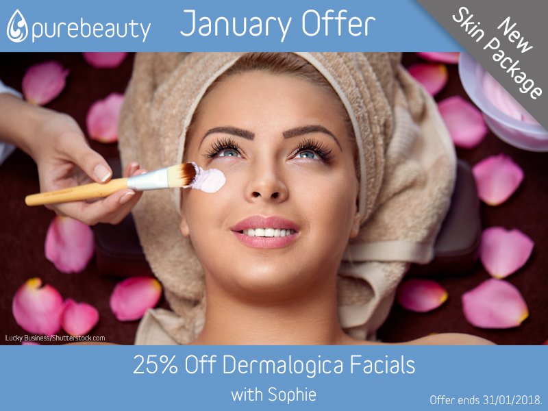 January 2018 Dermalogica Facials Offer