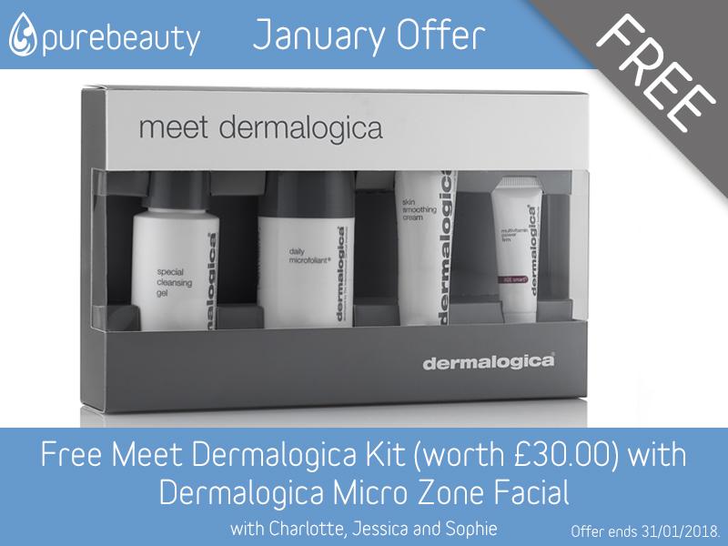 January 2018 Dermalogica MicroZone Facial Offer