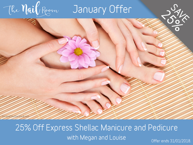 January 2018 Express Shellac Manicure and Pedicure Offer