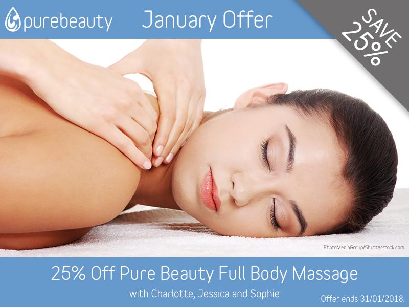 January 2018 Full Body Massage Offer