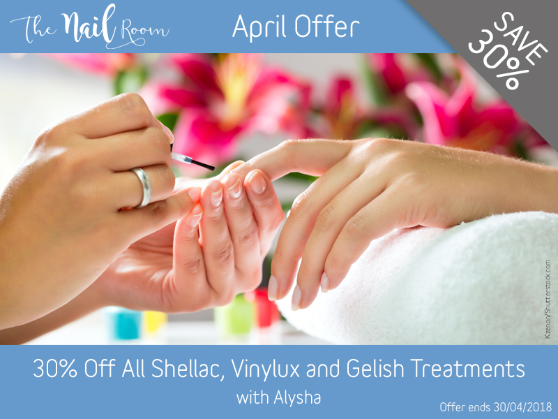 April 2018 Vinylux Shellac and Gelish Offer