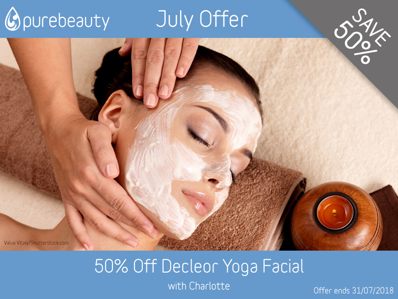 July 2018 Decleor Yoga Facial Offer at Pure Beauty Lichfield