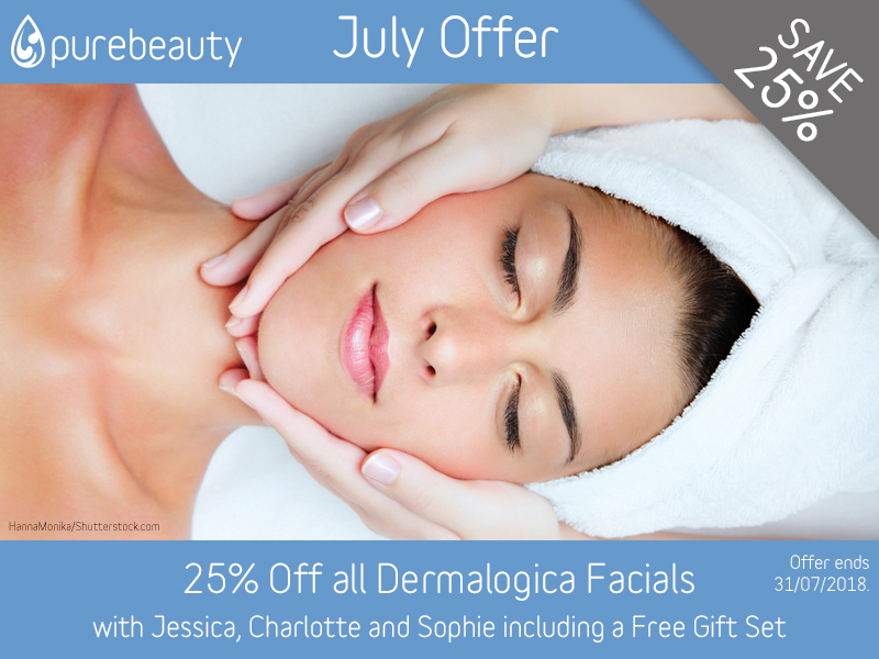 July 2018 Dermalogica Facials Offer at Pure Beauty Lichfield