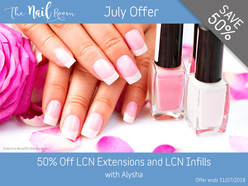 July 2018 LCN Extensions and Infills Offer at Pure Beauty Lichfield