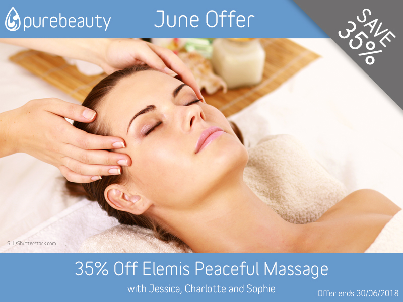 June 2018 Elemis Massage Offer at Pure Beauty Lichfield