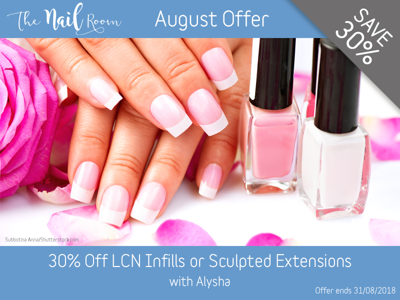 August 2018 LCN Offer at Pure Beauty Lichfield