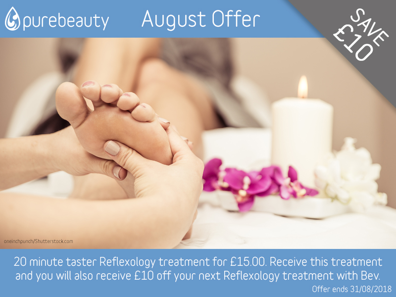 August 2018 Reflexology Offer at Pure Beauty Lichfield