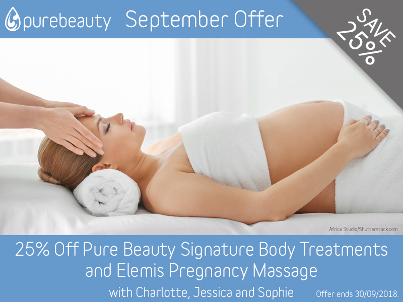 September 2018 Body Treatments Offer at Pure Beauty Lichfield