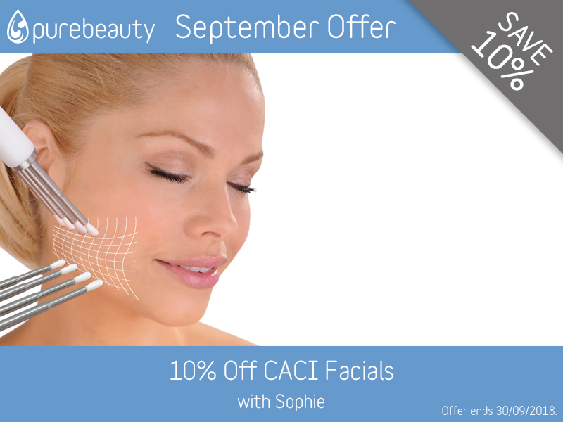 September 2018 CACI Facials Offer at Pure Beauty Lichfield
