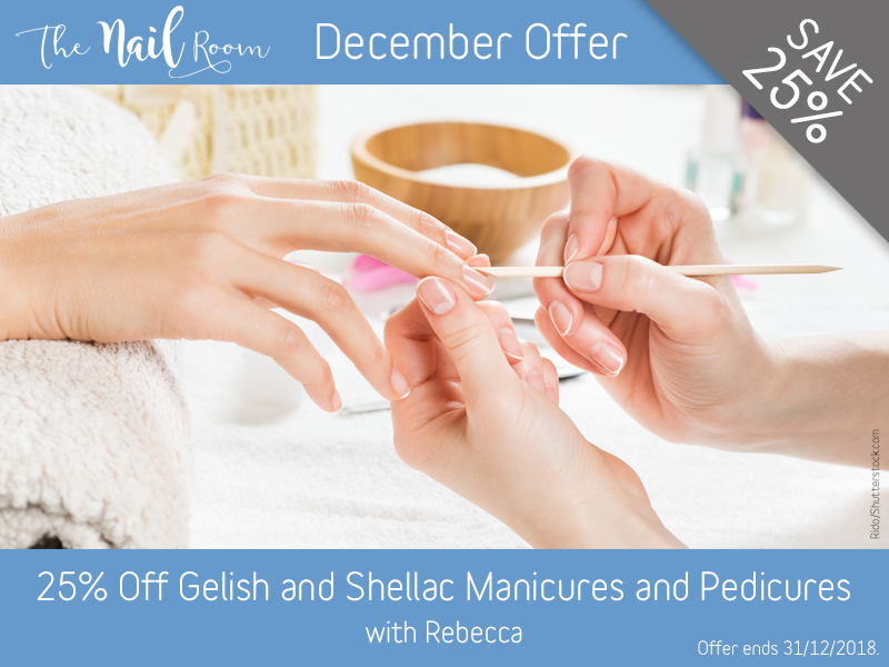 December 2018 Gelish and Shellac Manicure and Pedicure Offer at the Lichfield Beauty Salon