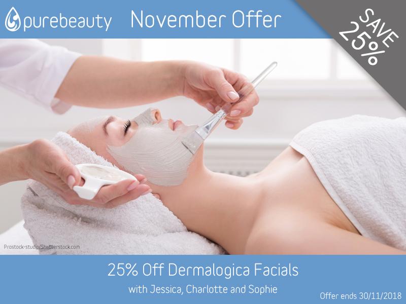 November 2018 Dermalogica Facial Offer at Pure Beauty Lichfield