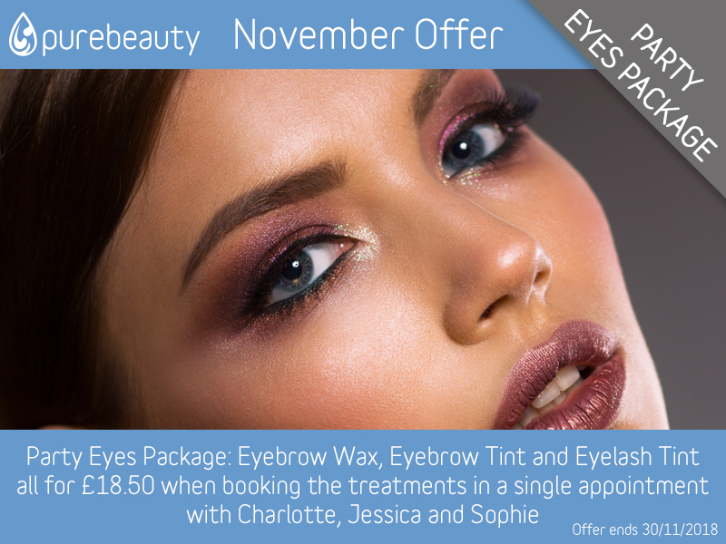November 2018 Party Eyes Package at Pure Beauty Lichfield