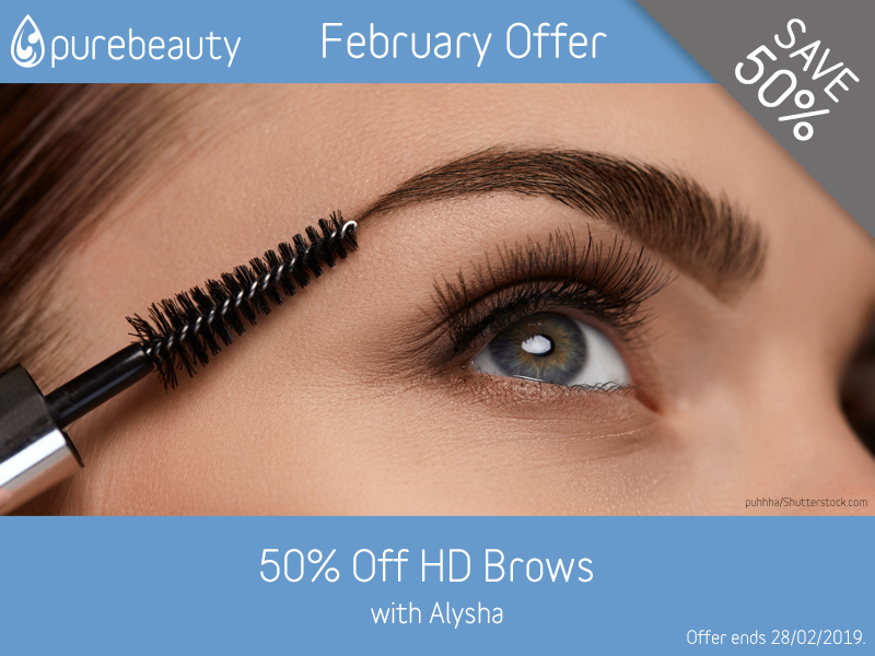 February 2019 HD Brows Offer at Pure Beauty Lichfield