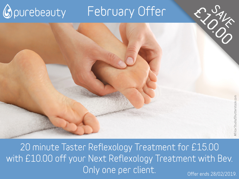 February 2019 Reflexology Offer at Pure Beauty Lichfield