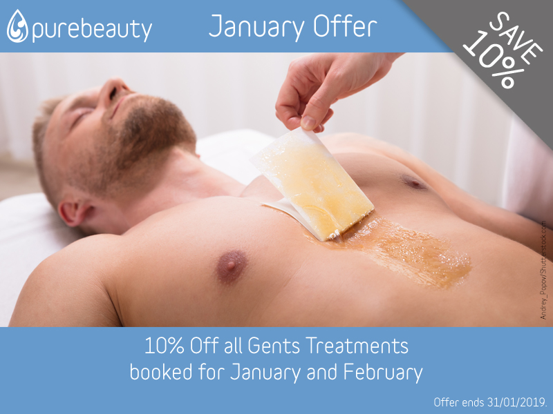 January 2019 Gents Treatments Offer at Pure Beauty Lichfield