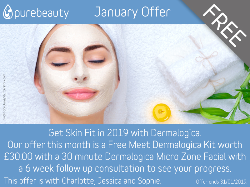 January 2019 Get Skin Fit Free Dermalogica Kit Offer at Pure Beauty Lichfield