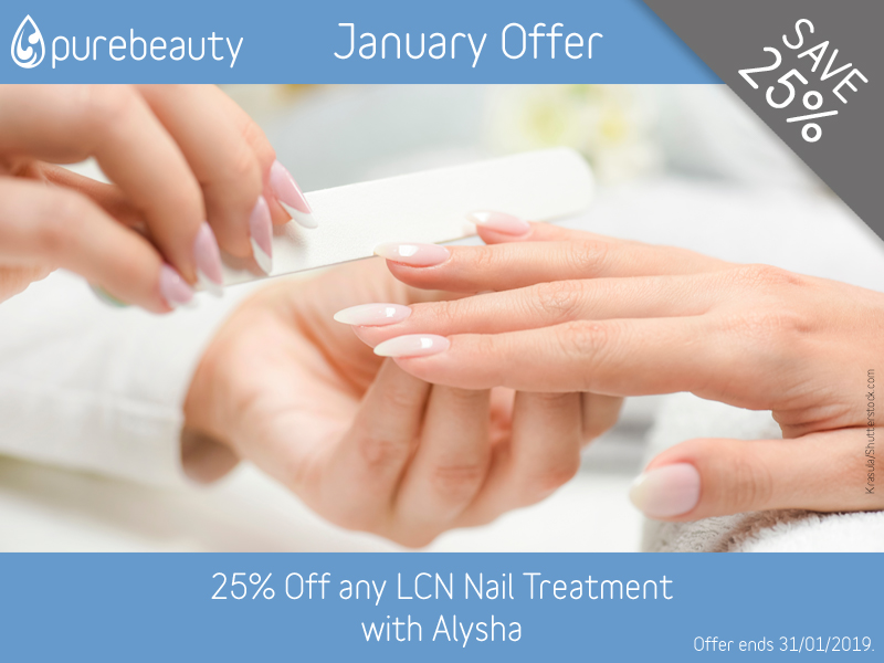 January 2019 LCN Offer at Pure Beauty Lichfield