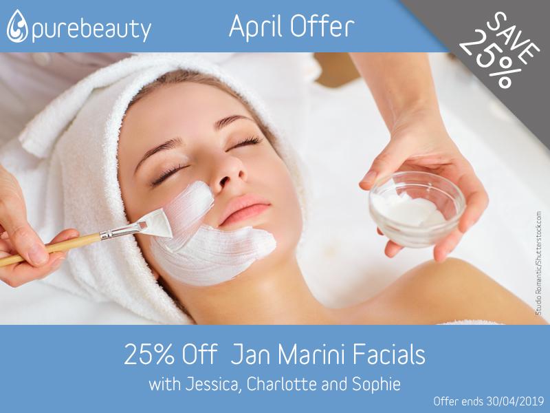 April 2019 Jan Marini Facials Offer