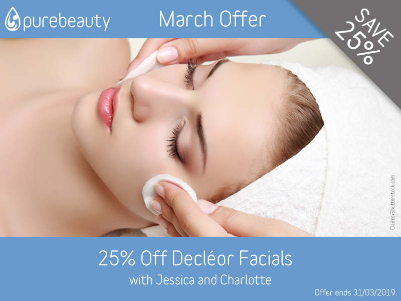 March 2019 Decleor Facials Offer