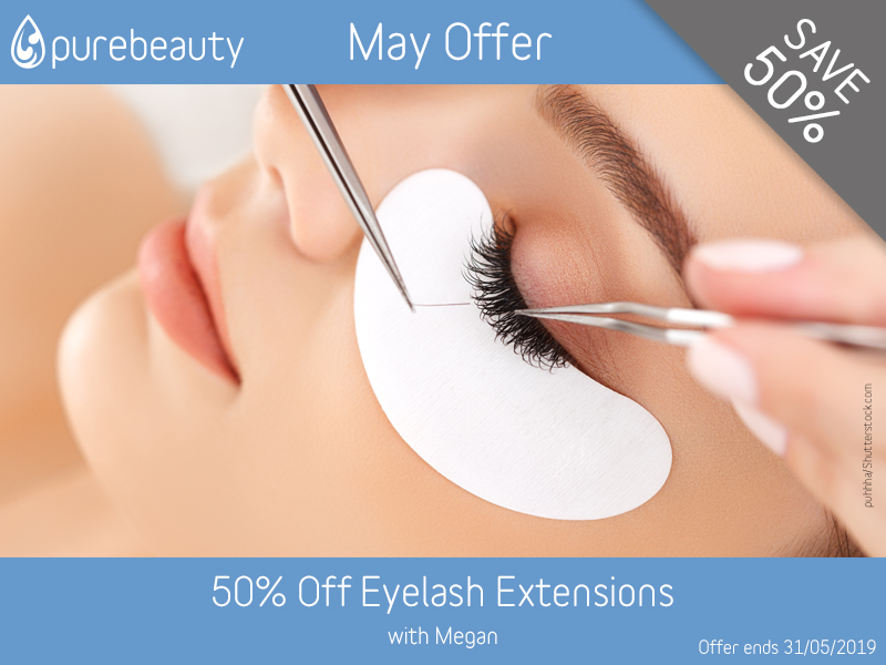 May 2019 Eyelash Extensions Offer