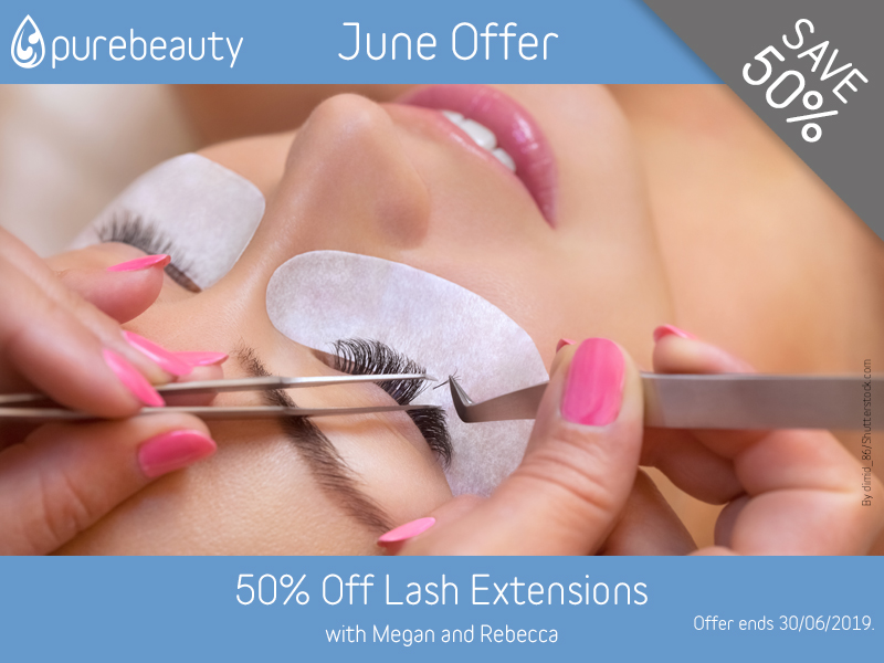 June 2019 Eyelash Extensions Offer at Pure Beauty Lichfield