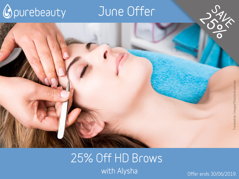 June 2019 HD Brows Offer at Pure Beauty Lichfield