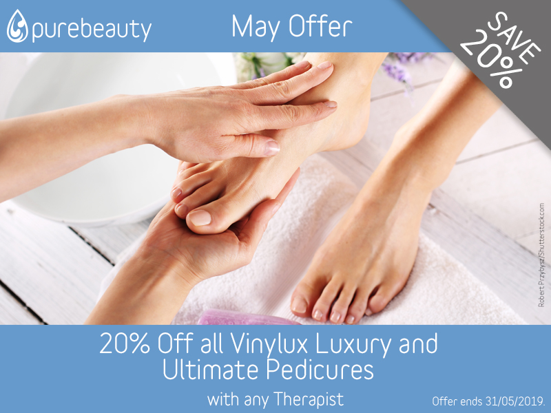 May 2019 Vinylux Pedicure Offer