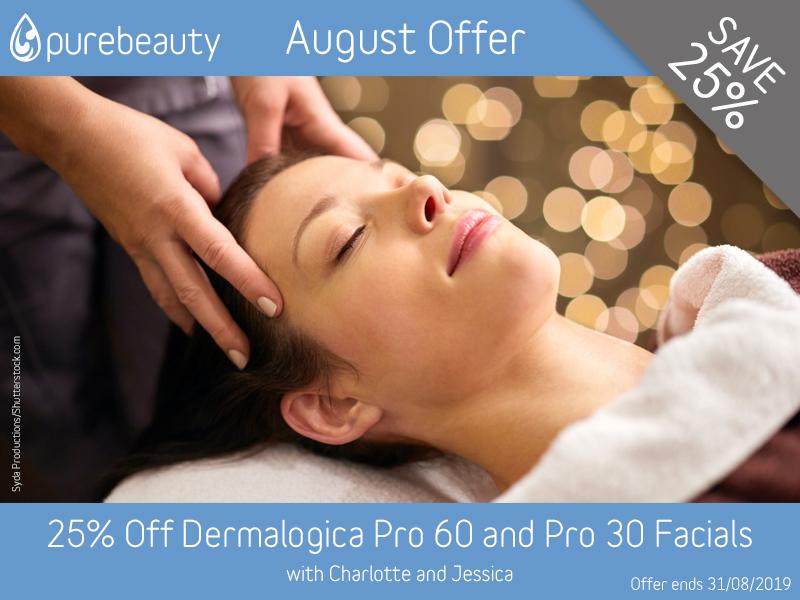 August 2019 Dermalogica Facials Offer