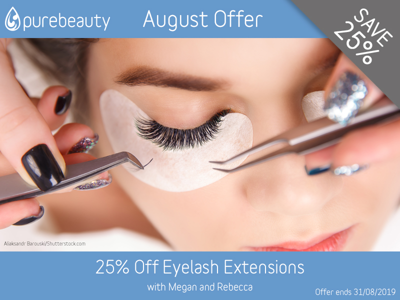 August 2019 Eyelash Extensions Offer