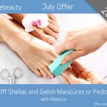 July 2019 Shellac and Gelish Manicures or Pedicures Offer