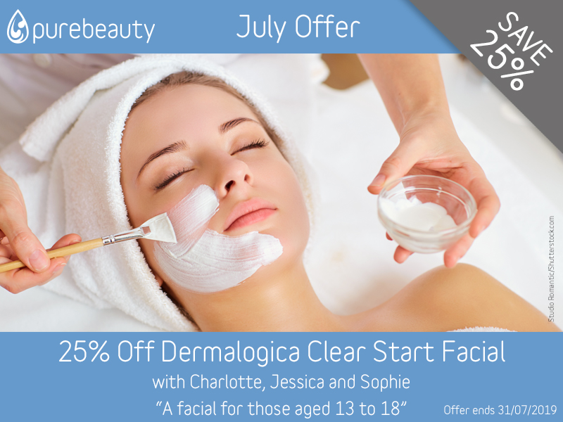 July 2019 Dermalogica Clear Start Facial Offer at Pure Beauty Lichfield