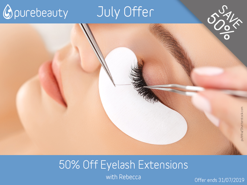 July 2019 Eyelash Extensions Offer at Pure Beauty Lichfield