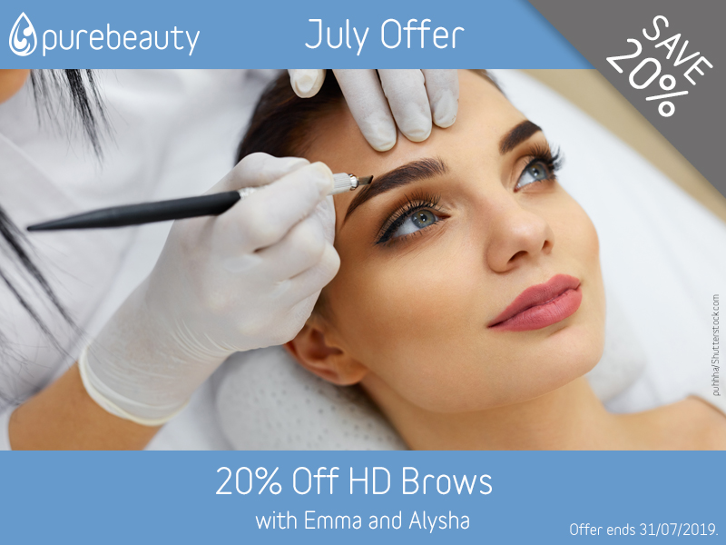July 2019 HD Brows Offer at Pure Beauty Lichfield