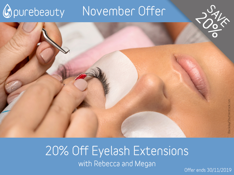 November 2019 Eyelash Extensions Offer at Pure Beauty Lichfield
