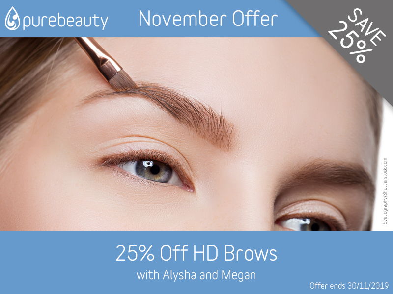 November 2019 HD Brows Offer at Pure Beauty Lichield