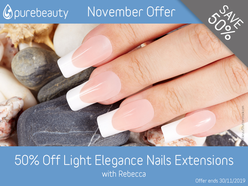 November 2019 Light Elegance Nail Extensions Offer at Pure Beauty Lichield
