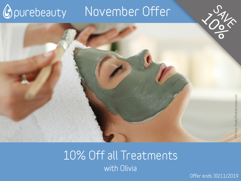 November 2019 Olivia Treatments Offer at Pure Beauty Lichield