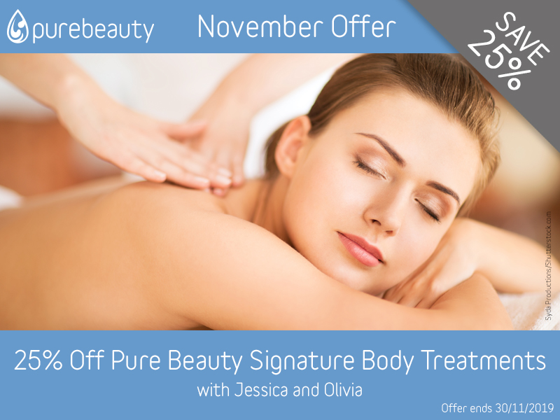November 2019 Signature Body Treatments Offer at Pure Beauty Lichield