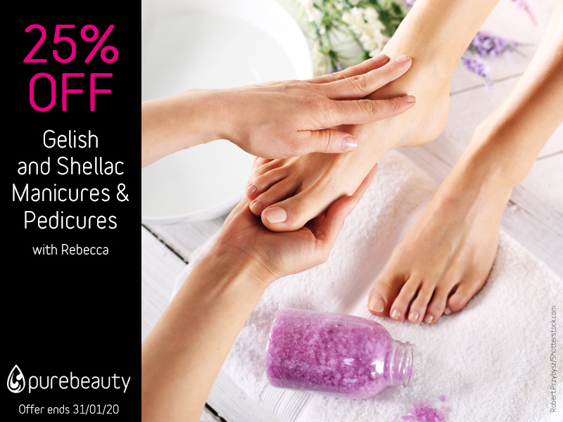 January 2020 Geliish and Shellac Manicure and Pedicures Offer