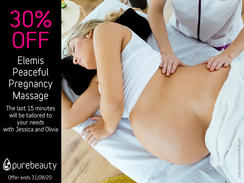 August 2020 Elemis Peaceful Pregnancy Massage Offer