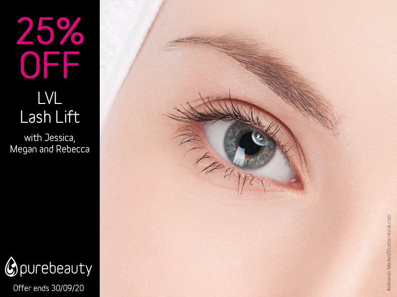 September 2020 LVL Lash Lift Offer