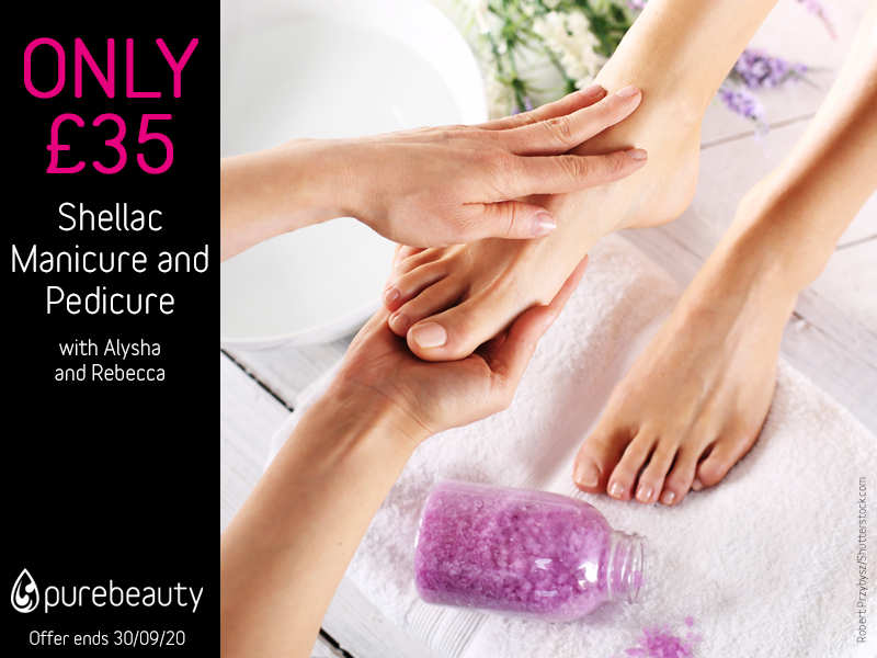 September 2020 Shellac Manicure And Pedicure Offer